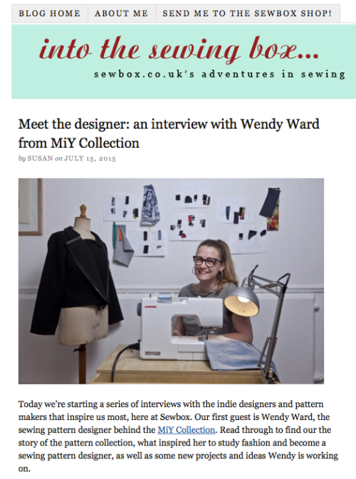 sewbox interview with Wendy Ward