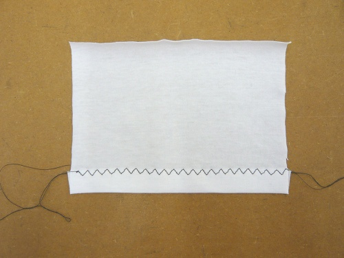 hemming knit fabric on a sewing machine