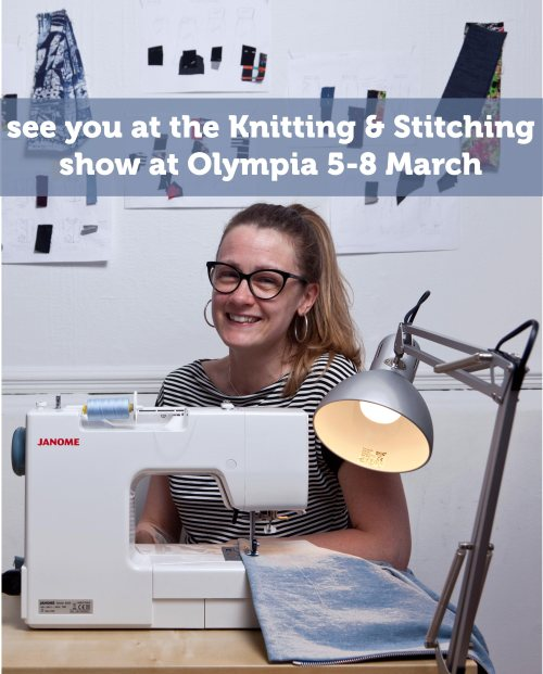 Wendy Ward at the Knitting and stitching show